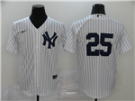 New York Yankees #25 Gleyber Torres White Without Name 2020 Cool Base Jersey