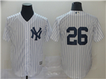 New York Yankees #26 DJ LeMahieu White Pinstripe without Name Cool Base Jersey