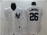 New York Yankees #26 DJ LeMahieu White 2020 Cool Base Jersey