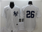 New York Yankees #26 DJ LeMahieu White Without Name 2020 Cool Base Jersey