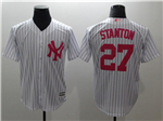 New York Yankees #27 Giancarlo Stanton White Monther's Day Cool Base Jersey