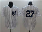 New York Yankees #27 Giancarlo Stanton White without Name Cool Base Jersey