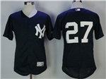 New York Yankees #27 Giancarlo Stanton Road Gray Flex Base Jersey