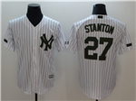 New York Yankees #27 Giancarlo Stanton White 2018 Memorial Day Cool Base Jersey