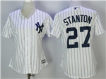 New York Yankees #27 Giancarlo Stanton Women's Home White Cool Base Jersey