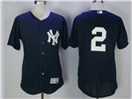 New York Yankees #2 Derek Jeter Alternate Navy Flex Base Jersey