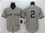 New York Yankees #2 Derek Jeter Gary Without Name 2020 Cool Base Jersey