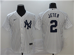 New York Yankees #2 Derek Jeter White 2020 Cool Base Jersey