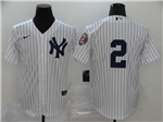 New York Yankees #2 Derek Jeter White 2020 Hall of Fame Induction Cool Base Jersey