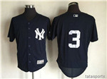 New York Yankees #3 Babe Ruth Alternate Navy Flex Base Jersey