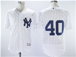 New York Yankees #40 Luis Severino Home White Flex Base Jersey