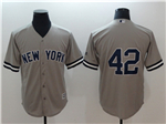 New York Yankees #42 Mariano Rivera Gray without Name Cool Base Jersey