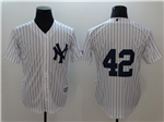 New York Yankees #42 Mariano Rivera White without Name Cool Base Jersey
