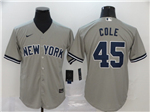 New York Yankees #45 Gerrit Cole Gary 2020 Cool Base Jersey