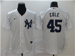 New York Yankees #45 Gerrit Cole White 2020 Cool Base Jersey