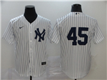 New York Yankees #45 Gerrit Cole White Without Name 2020 Cool Base Jersey