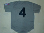 New York Yankees #4 Lou Gehrig 1939 Throwback Road Gray Jersey