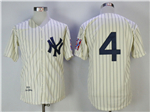 New York Yankees #4 Lou Gehrig 1939 Cream Throwback Jersey
