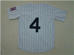 New York Yankees #4 Lou Gehrig White Pinstripe Throwback Jersey
