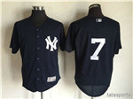 New York Yankees #7 Mickey Mantle Alternate Navy Flex Base Jersey