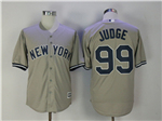 New York Yankees #99 Aaron Judge Gray Cool Base Jersey