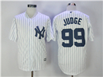 New York Yankees #99 Aaron Judge Home White Cool Base Jersey
