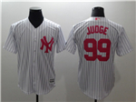 New York Yankees #99 Aaron Judge White Monther's Day Cool Base Jersey