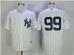 New York Yankees #99 Aaron Judge White without Name Cool Base Jersey