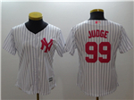 New York Yankees #99 Aaron Judge Women's White Monther's Day Cool Base Jersey
