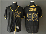 New York Yankees #99 Aaron Judge Black Gold Flex Base Jersey