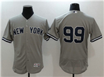 New York Yankees #99 Aaron Judge Road Gray Flex Base Jersey