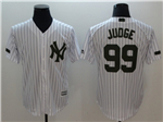 New York Yankees #99 Aaron Judge White 2018 Memorial Day Cool Base Jersey