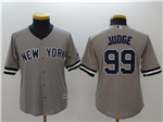 New York Yankees #99 Aaron Judge Youth Gray Cool Base Jersey