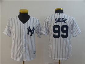 New York Yankees #99 Aaron Judge Youth Home White Cool Base Jersey