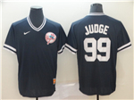 New York Yankees #99 Aaron Judge Black Throwback Jersey