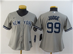 New York Yankees #99 Aaron Judge Women's Gray 2020 Cool Base Jersey