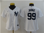 New York Yankees #99 Aaron Judge Women's White 2020 Cool Base Jersey
