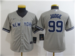 New York Yankees #99 Aaron Judge Youth Gary 2020 Cool Base Jersey