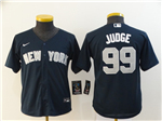 New York Yankees #99 Aaron Judge Youth Navy 2020 Cool Base Jersey