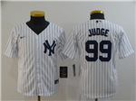New York Yankees #99 Aaron Judge Youth White 2020 Cool Base Jersey