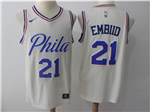 Philadelphia 76ers #21 Joel Embiid Cream City Edition Swingman Jersey