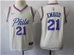 Philadelphia 76ers #21 Joel Embiid Youth Cream City Edition Swingman Jersey