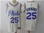 Philadelphia 76ers #25 Ben Simmons Cream City Edition Swingman Jersey