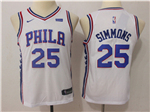 Philadelphia 76ers #25 Ben Simmons 2017/18 Youth White Jersey