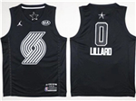 Portland Trail Blazers #0 Damian Lillard Black 2018 All-Star Game Swingman Jersey