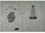 Portland Trail Blazers #0 Damian Lillard White 2018 All-Star Game Swingman Jersey