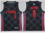 Portland Trail Blazers #0 Damian Lillard 2017/18 Dark Gray City Edition Swingman Jersey