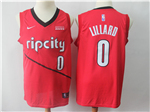 Portland Trail Blazers #0 Damian Lillard 2018/19 Red Earned Edition Swingman Jersey