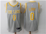 Cleveland Cavaliers #0 Kevin Love Gray The Land Swingman Jersey
