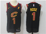 Cleveland Cavaliers #1 Derrick Rose 2017/18 Black Authentic Jersey